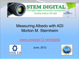 Measuring Albedo with ADI