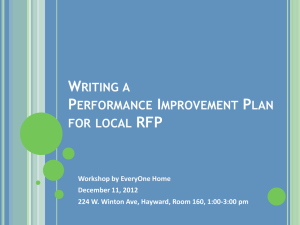 Writing a Performance Improvement Plan for local