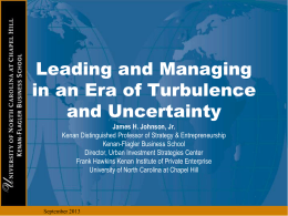 Leading and Managing in Turbulent Times