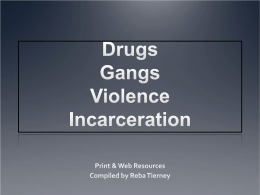 Drugs Gangs Violence Incarceration