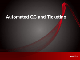 Sabre`s Automated QC and Ticketing