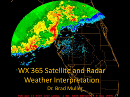 WX 365 Satellite and Radar Weather Interpretation