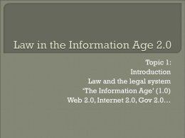 Law in the Information Age