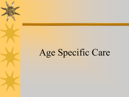 Age Specific