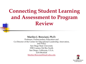 Connecting Student Learning and Assessment to Program Review