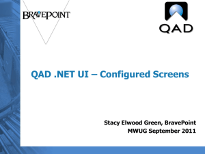 Configured Screens - Midwest User Group