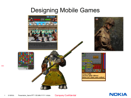 the basics of mobile game design