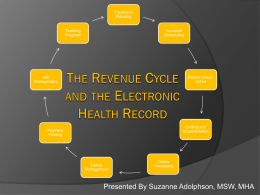 The Revenue Cycle and the Electronic Health Record
