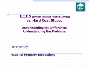 EIFS - National Property Inspections