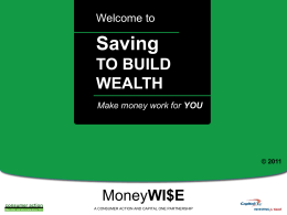 Saving to Build Wealth - PowerPoint Training