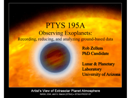 Introduction: exoplanets, atmospheres, project goals