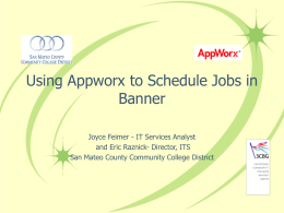 Appworx at SMCCD - San Mateo County Community College District