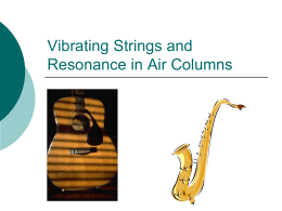 Vibrating Strings and Resonance in Air Columns