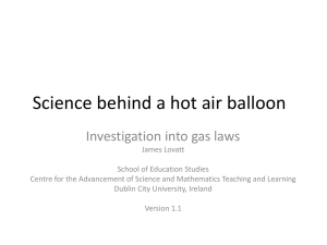 Science of a hot air balloon