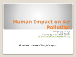 Human Impact on Air Pollution