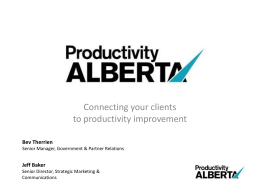Productivity Alberta - Economic Developers Alberta