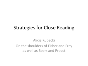 Close Reading (Mid-MI Regional Literacy Ppt