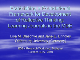 Establishing a Foundational Framework for Development of
