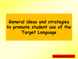 General ideas and strategies