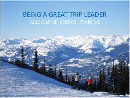 trip leader training - Crescent Ski Council
