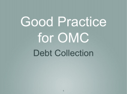 AON- Debt Collection – OMC Good Practice