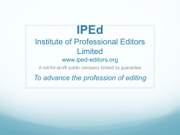 the slideshow of the IPEd-as-is option