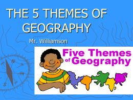 5 Themes of Geography - South McKeel Academy