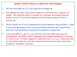 Quality Control Checks on Reservoir Fluid Samples