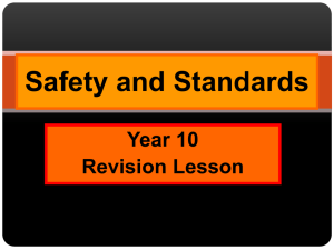Safety and Standards Year 10 THEORY 12MAY