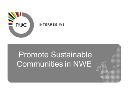 INTERREG IVB North West Europe