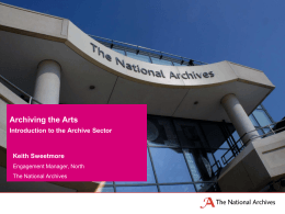 Introduction to archives in the north and the wider archives sector
