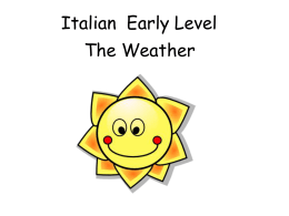 Italian Early Level Weather