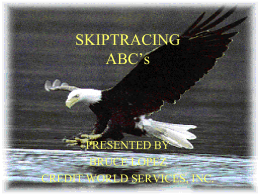 ABC`s of Skip Tracing