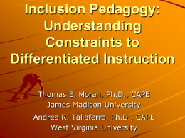 Inclusion Pedagogy PowerPoint