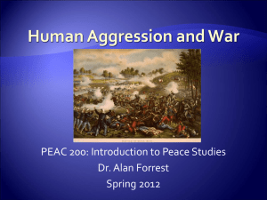 human_aggression and war - Environmental history timeline