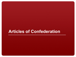Why were the Articles of Confederation so weak?