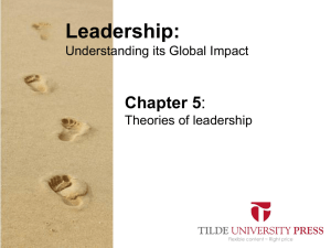 Leaderhip PowerPoint Chapter 5 - Tilde Publishing and Distribution