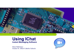 Using IChat Instant Messaging Software