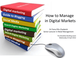 How to Manage in Digital Markets presentation