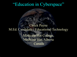 """Education in Cyberspace"" - Blackboard Learn"
