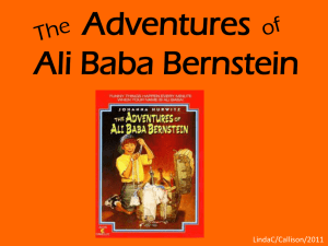 1, week 2 vocab introduction The Adventures ofAli Baba Bernstein