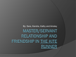 master/servant relationship and friendship