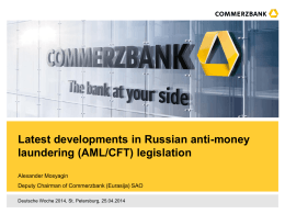Commerzbank AG Style guide for Powerpoint presentations