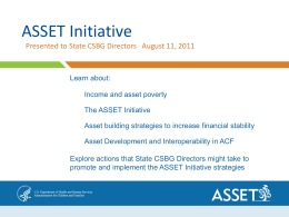 HHS ASSET Initiative Presentation