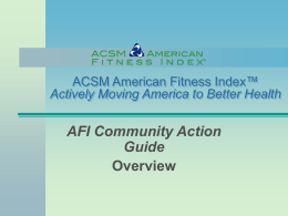 AFI Community Action Guide