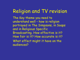 Religion and TV revision