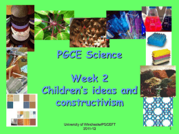 Children`s ideas and constructivism
