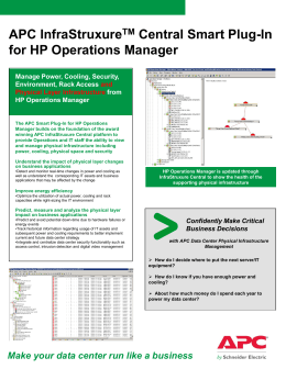 APC InfraStruXure™ Central Management Pack for Microsoft