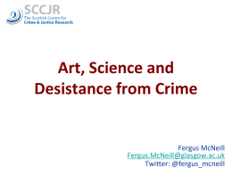 Art, Science and Desistance