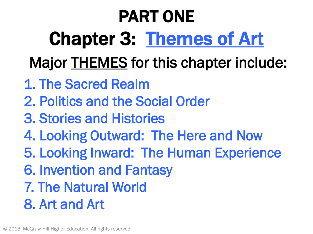 Part One Chapter 3 Themes Of Art